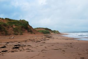 A gorgeous red sandy beach on Prince Edward Island, Canada