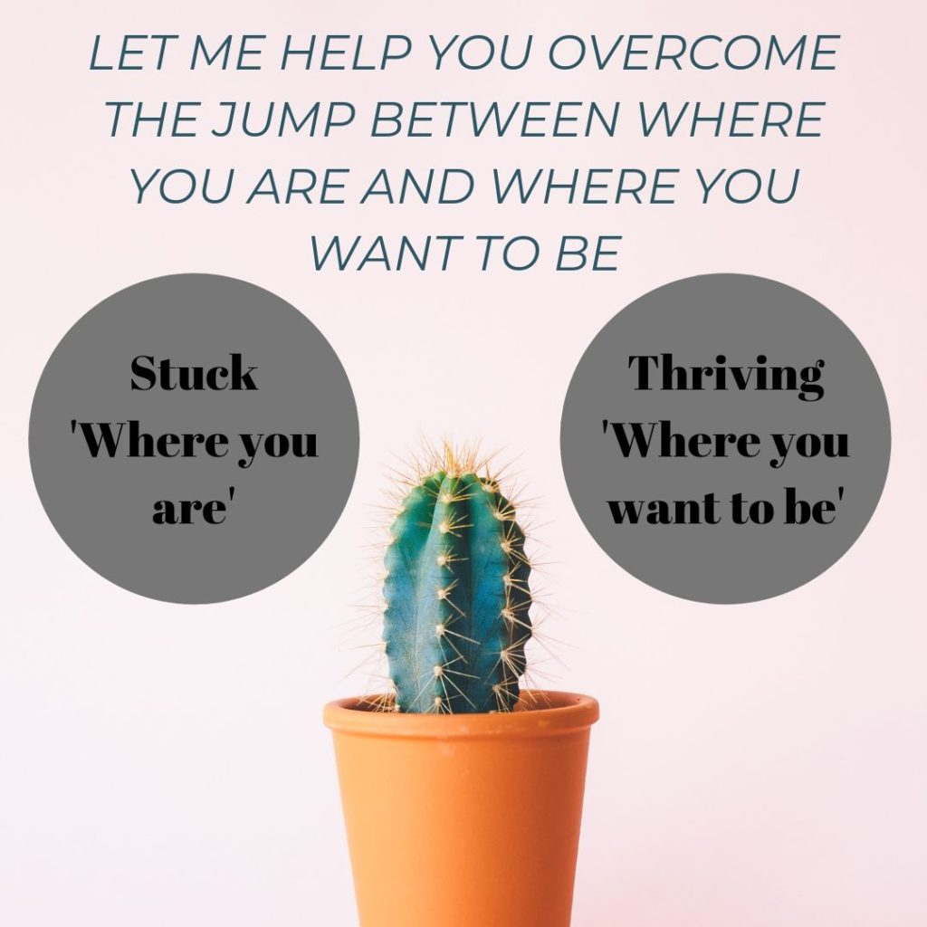 Stuck where you are? Let me help you get to where you want to be?